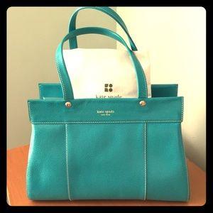 Turquoise Kate Spade large satchel